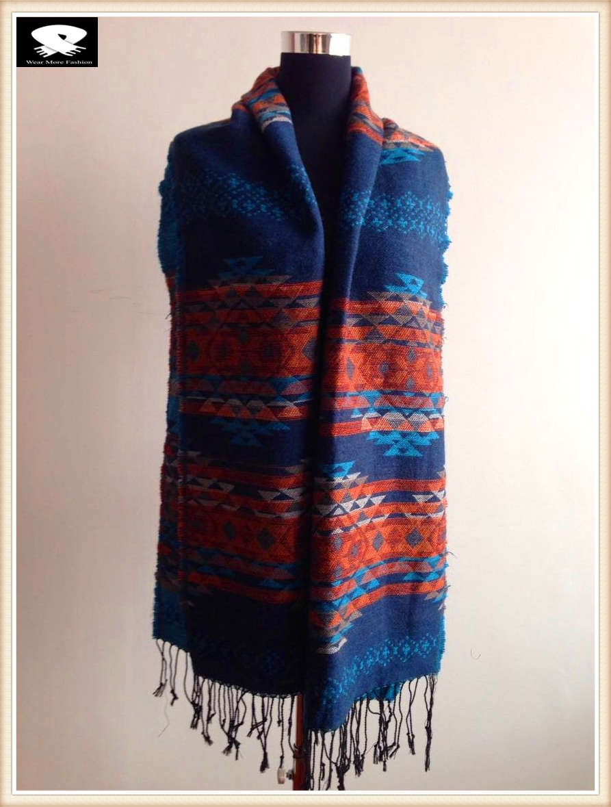 Acrylic scarf for cold winter, china scarf factory