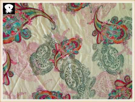 Colorized paisley scarf in China scarf factory