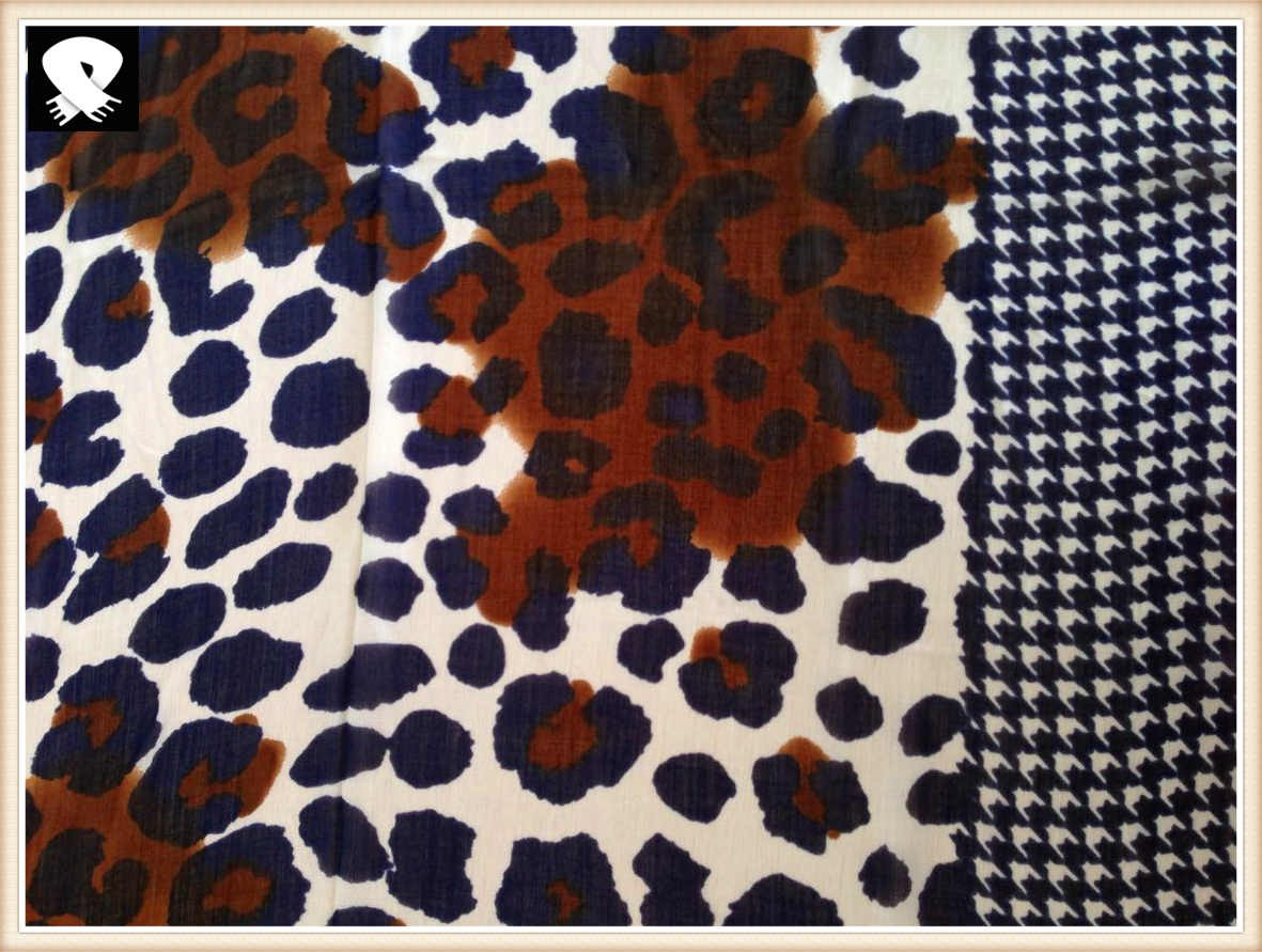 Fashion leopard scarf with super soft handle