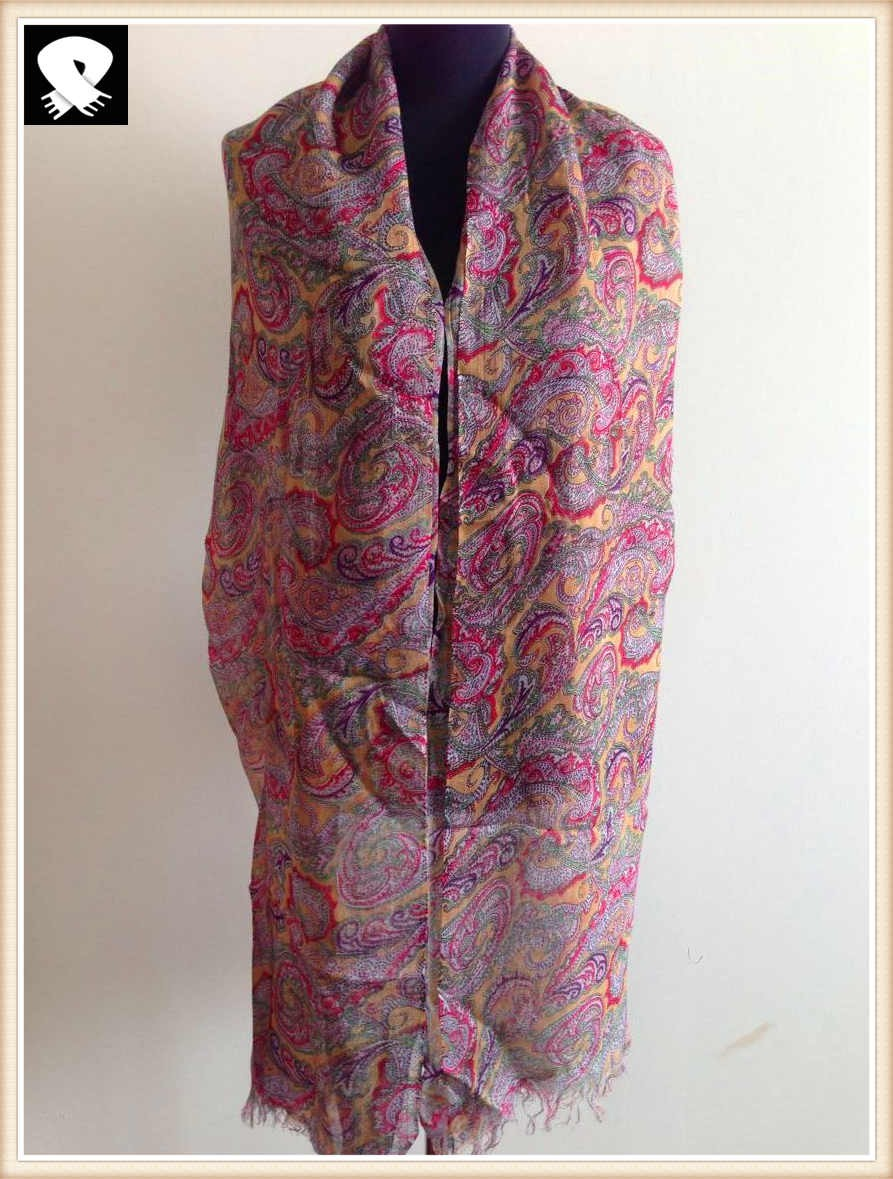 Paisley scarf with super soft handle feel acrylic