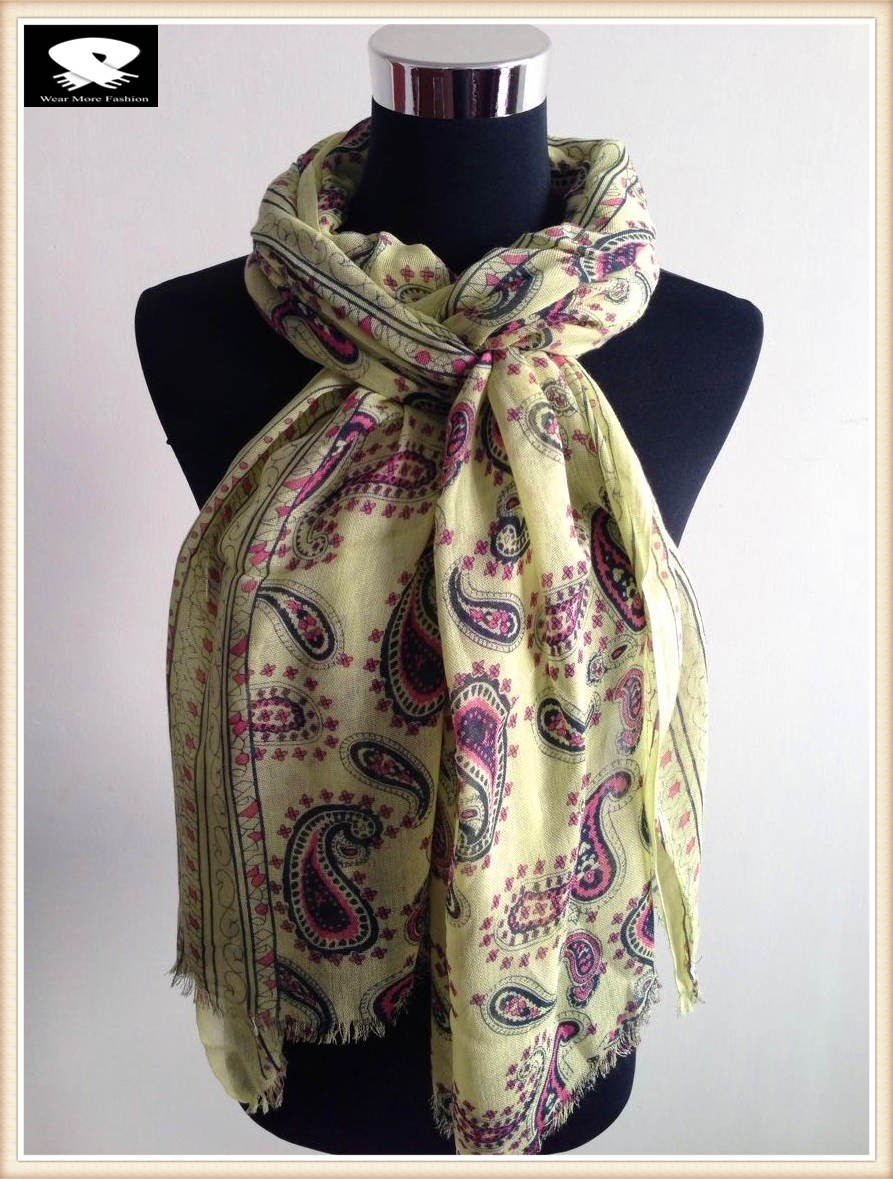 Scarf factory, paisley acrylic scarf