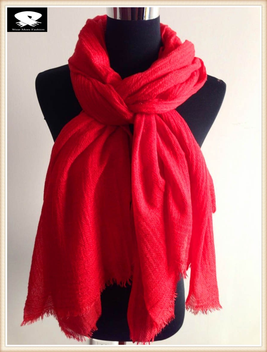 Scarf factory, red acrylic scarf