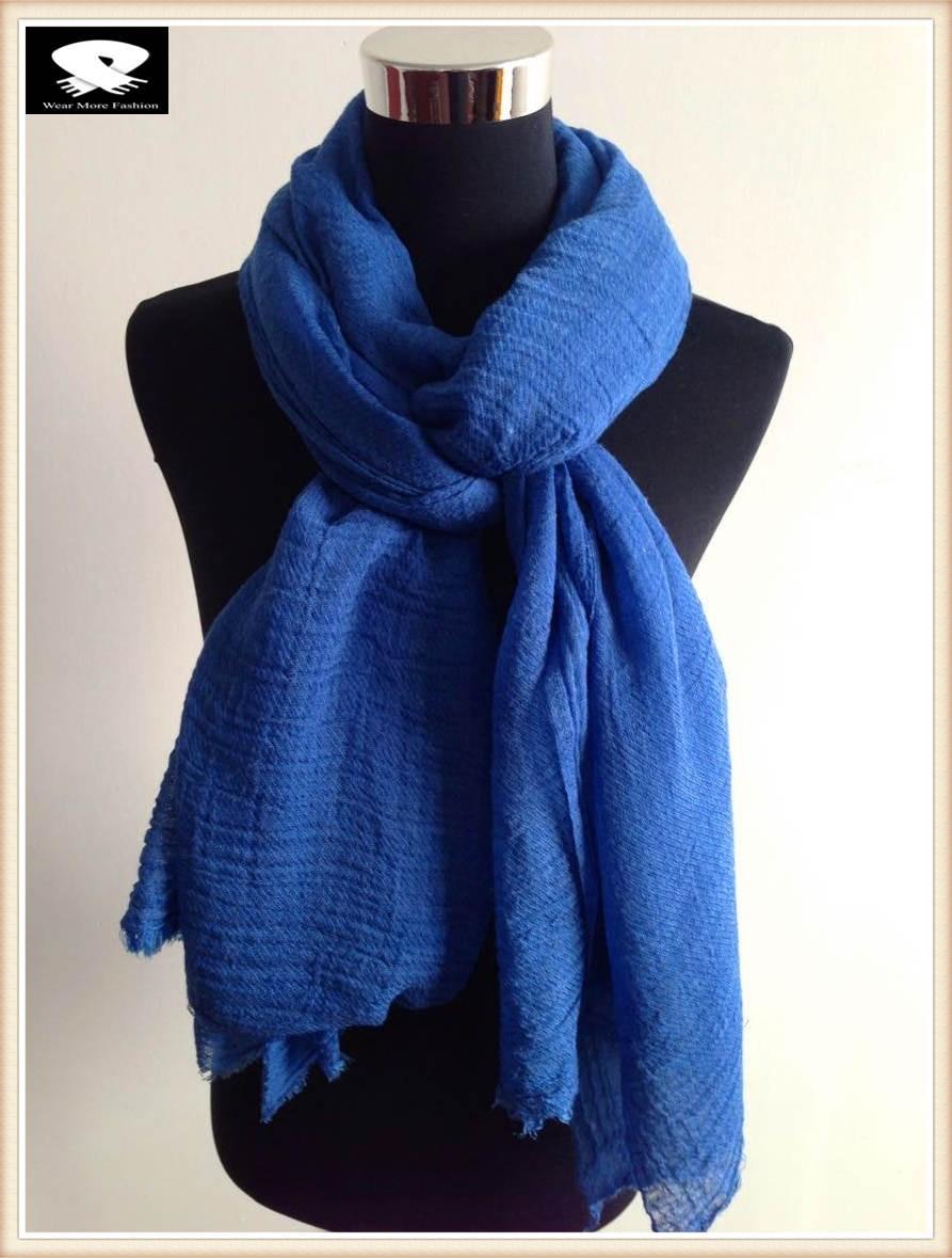 Solid color acrylic scarf