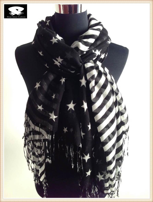 Stars and stripes acrylic scarf