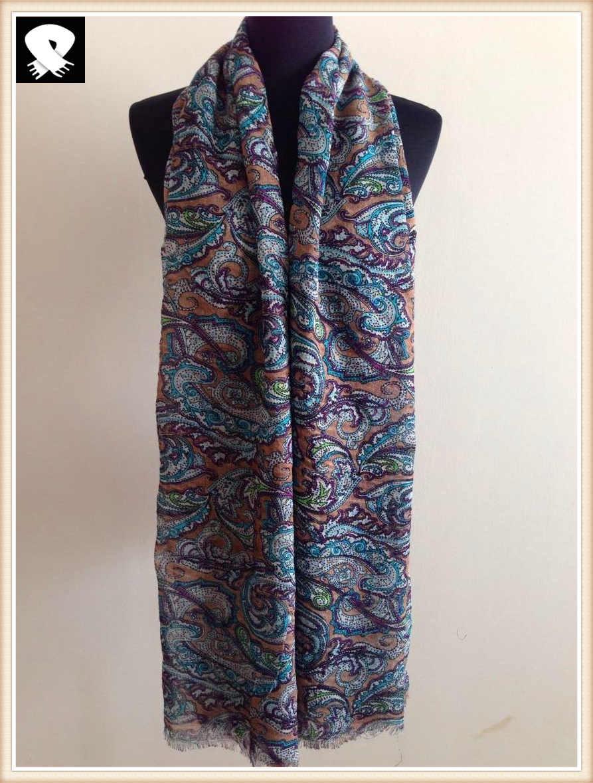 Super soft acrylic scarf with stylish paisley