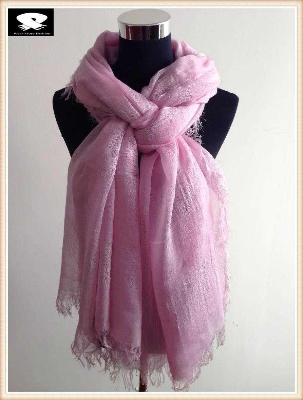 Super soft pink acrylic scarf