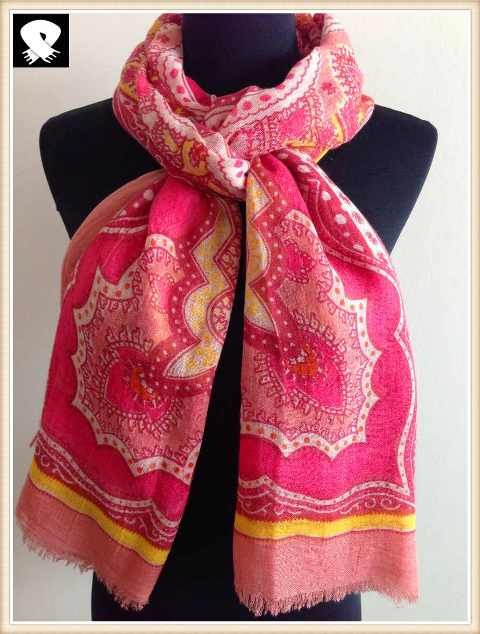 Vintage acrylic scarf from china scarf factory