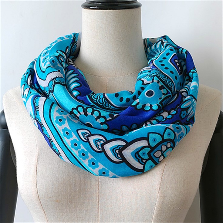 Custom hair scarf printing design photos on the bamboo scarves