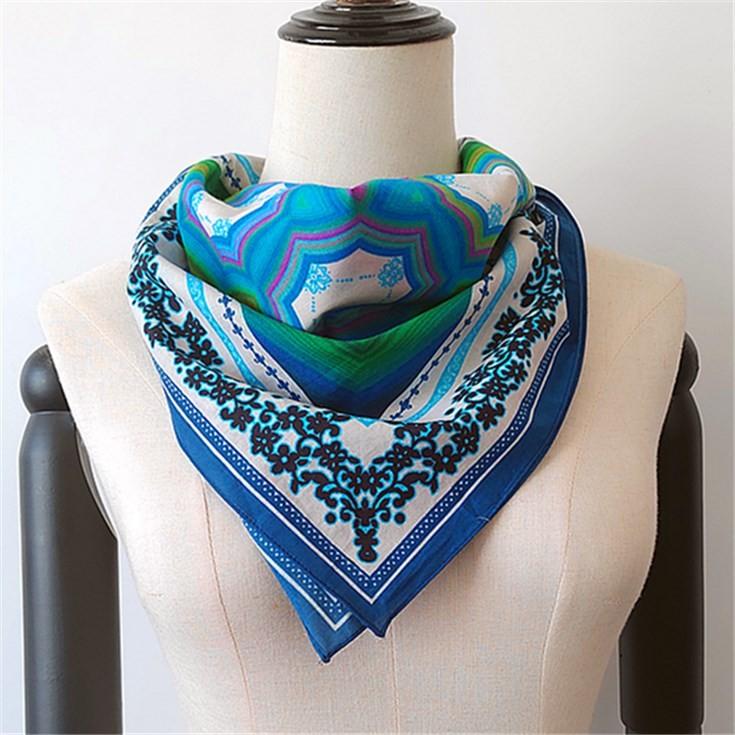 Digital printed scarf factory custom printed cotton bandana scarves