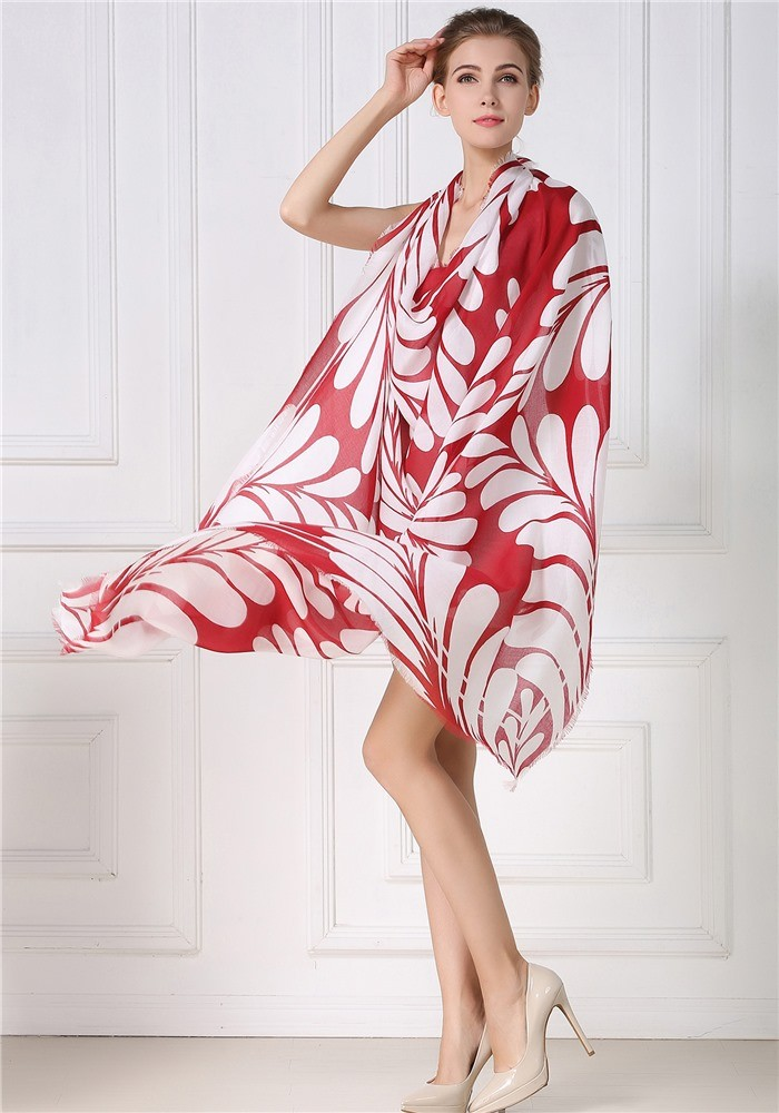 Modal and silk mixed scarves for women
