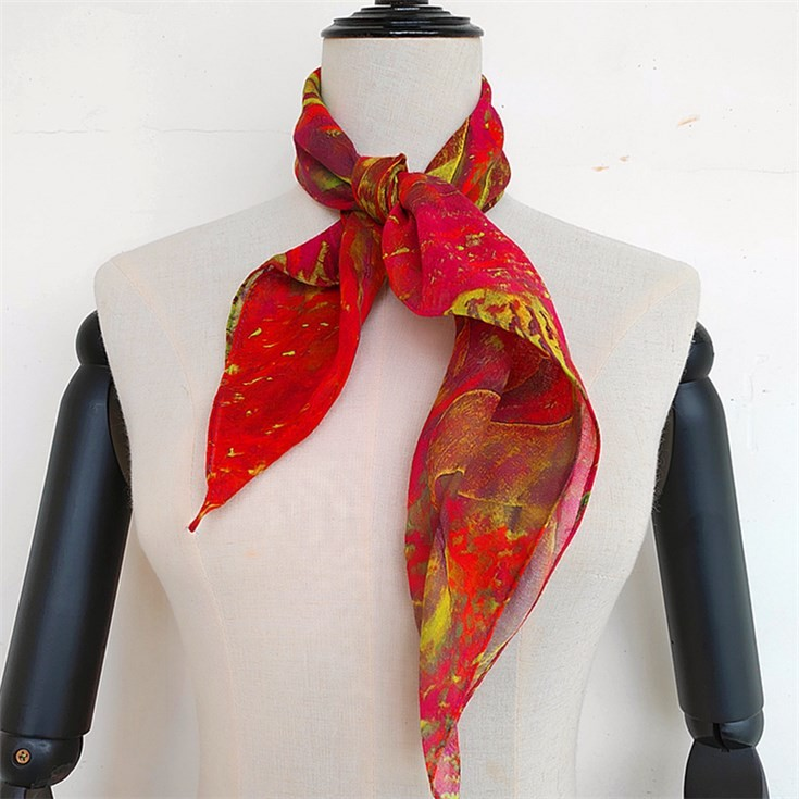 Bandana scarf printing service for the cotton and linen blend fabrics