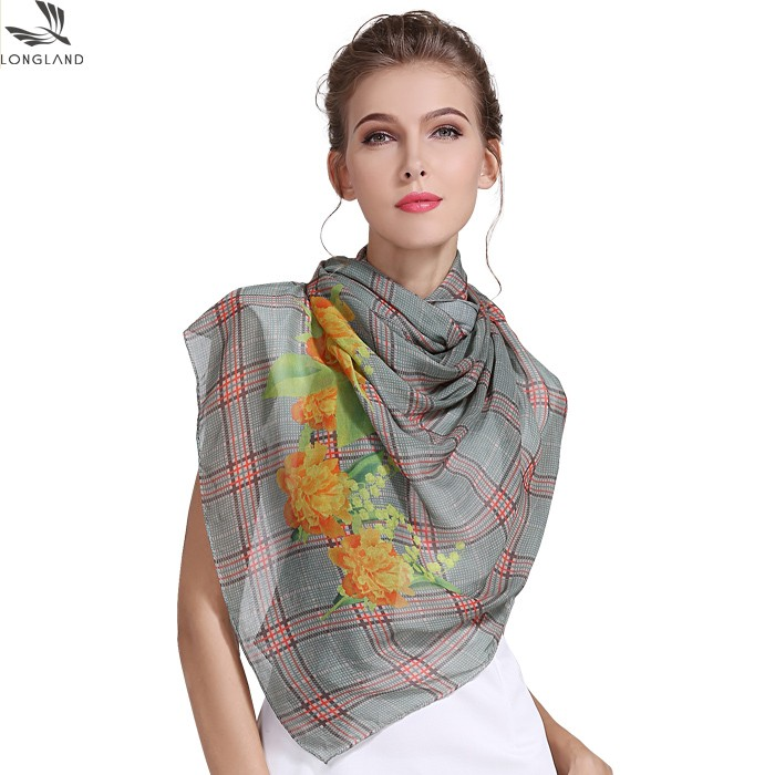 Custom digital printed shawl scarf in our china scarf factory