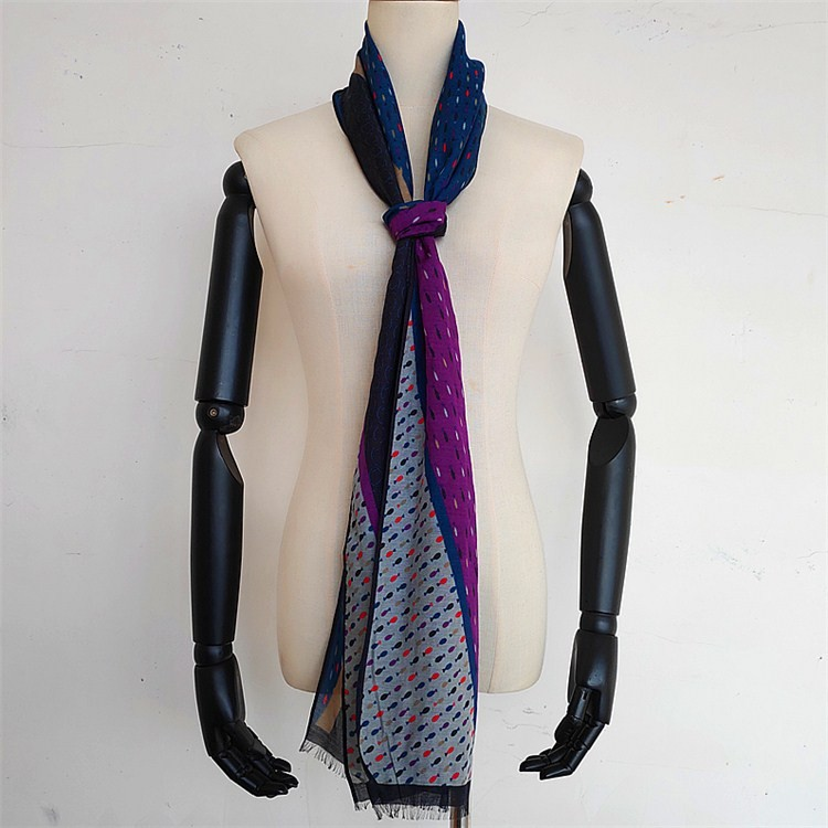 Scarf factory custom modal and silk twill made neck scarf with logo