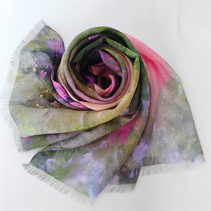 Digital print silk scarf manufacturer custom silk and merino wool scarf shawls