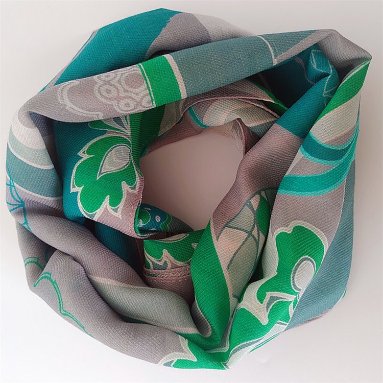 Scarf manufacturer custom digital printed silk and blend silk scarves