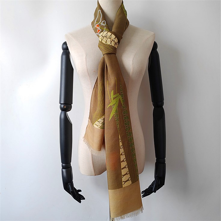 Scarf manufacturer digital printed custom silk and wool scarves no minimum