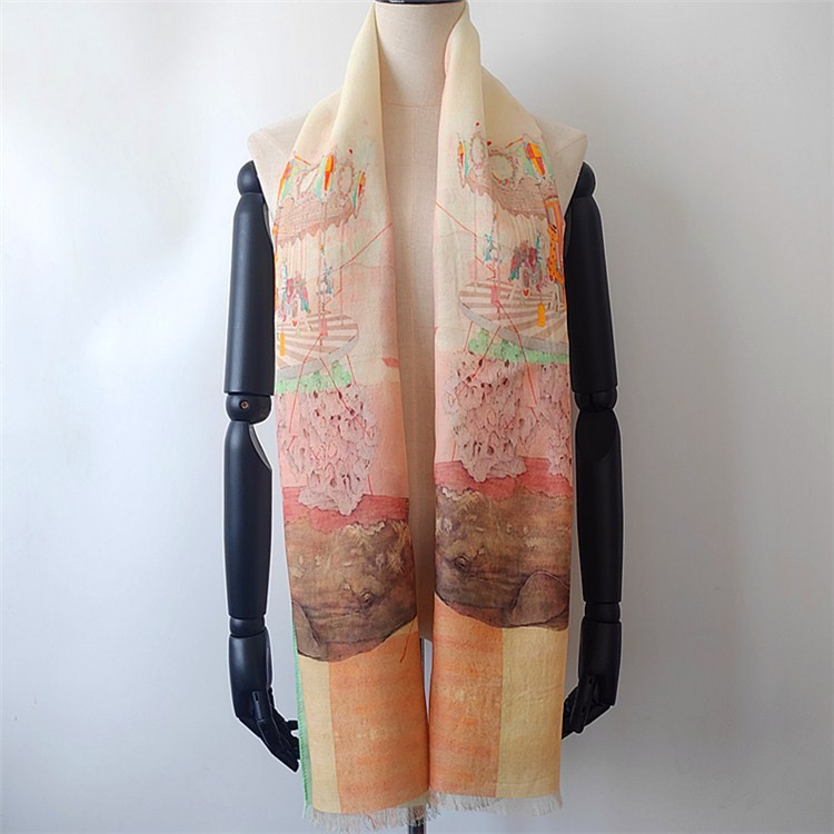Silk and wool scarves factory custom printed silk scarves wholesale