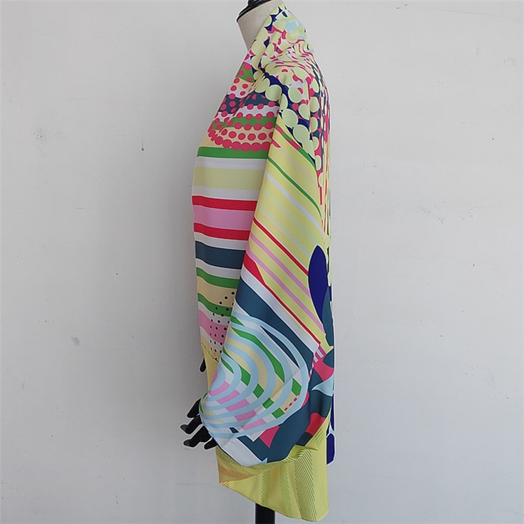 Silk scarf factory manufacturer custom cape scarf shawl