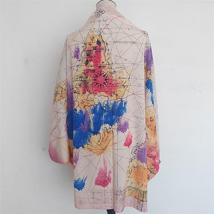 Silk scarf manufacturer custom cape scarf shawl