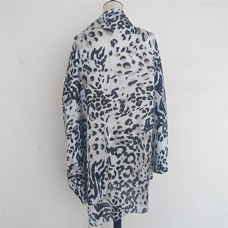 Silk scarf manufacturer custom leopard digital printed silk cape scarves