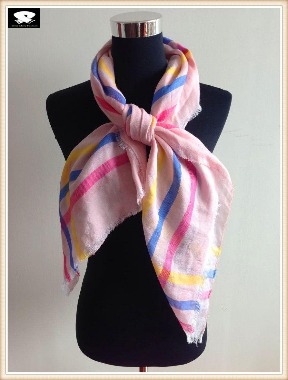 Square cotton scarf