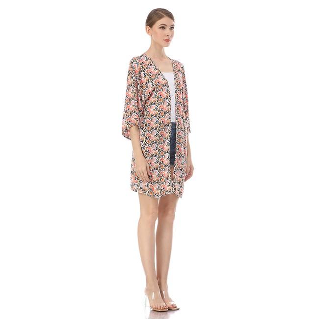 Custom kimono maker digital print kimono jacket dress