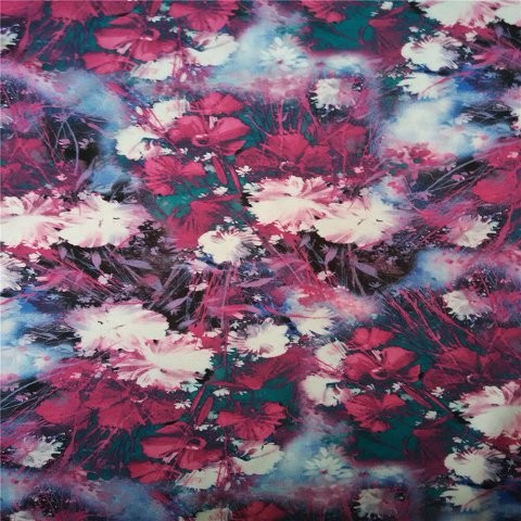 Scarf factory, abstract floral scarf
