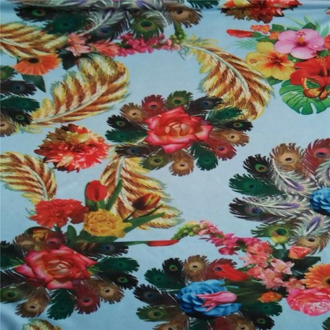 Spring flowers custom scarf in scarf factory