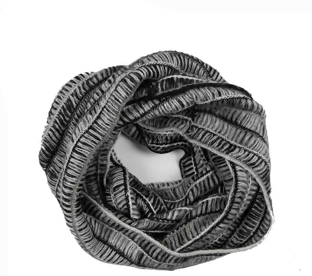 Abstract infinity scarves
