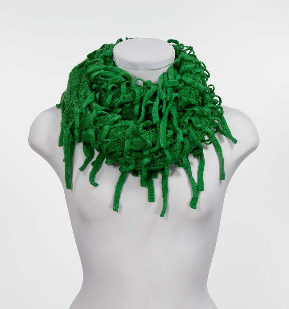 Green infinity scarves,yours can bespoke