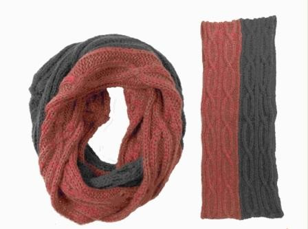 Knitted infinity scarves for the unexpected winter