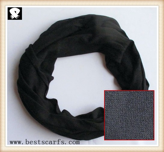 Scarf factory, black knitted and infinity scarves
