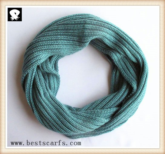 Scarf factory, light-blue color infinity scarves