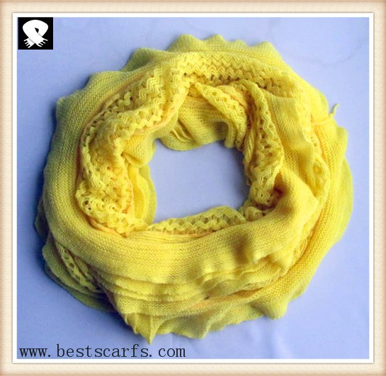 Scarf factory, yellow infinity scarves
