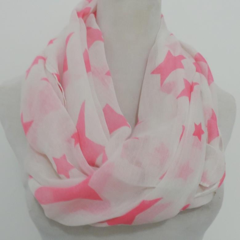 Stylish stars patterns infinity scarves