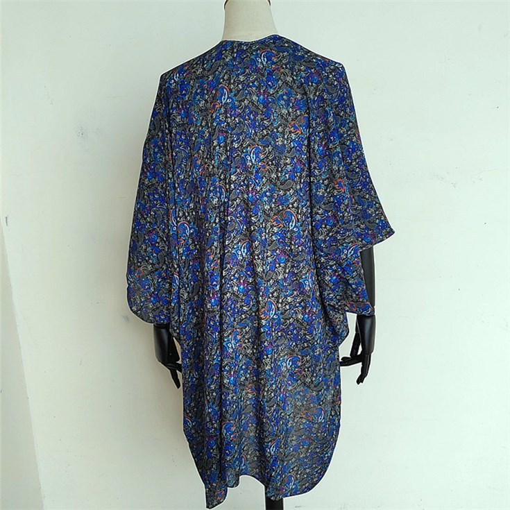 China scarf factory print the photos designs on the modal silk kimono cardigan