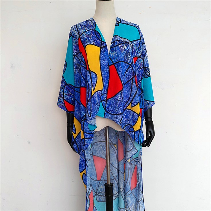 Custom kimono maker digital print photos on modal and silk shawl scarf