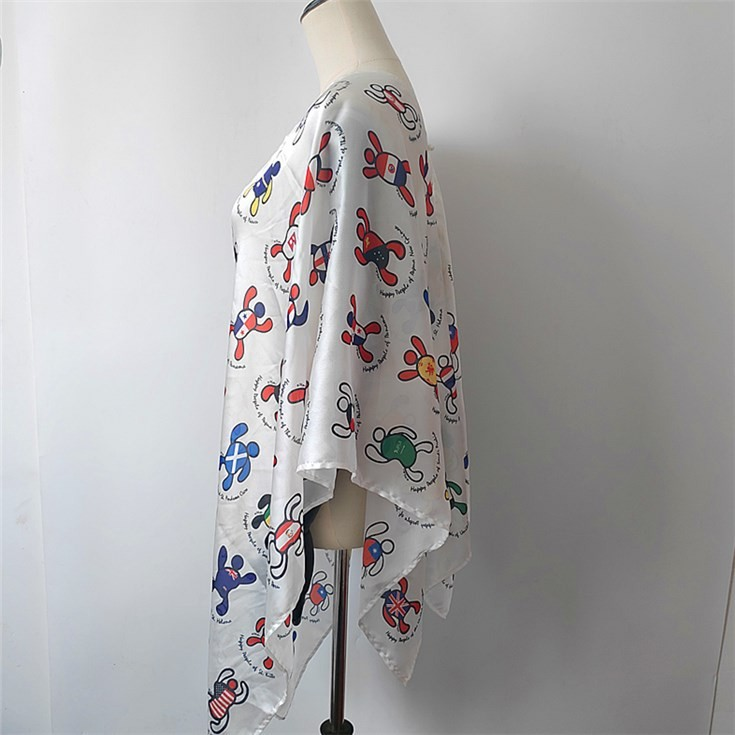 Custom kimono maker sublimation printed beachwear shawl