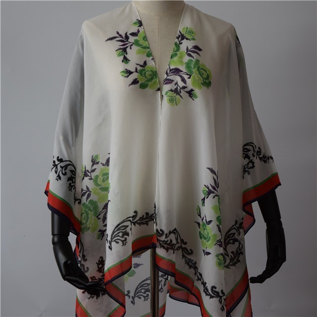 Digital printed floral shawls and scarves