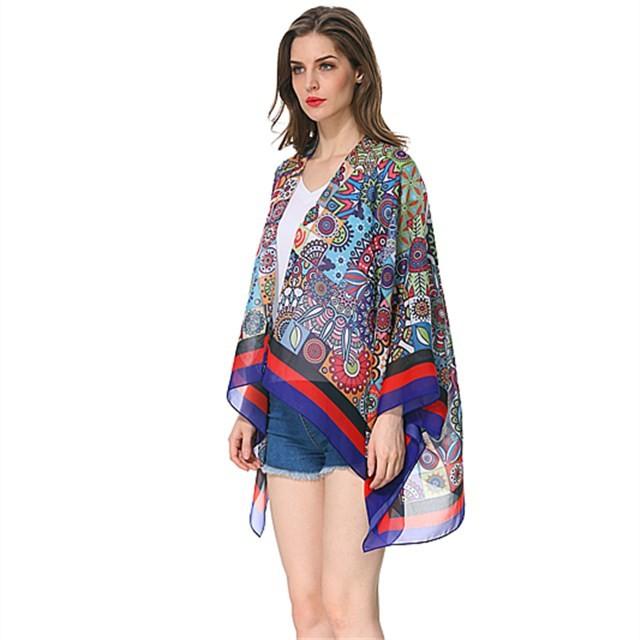 Scarf factory digital printed chiffon shawl