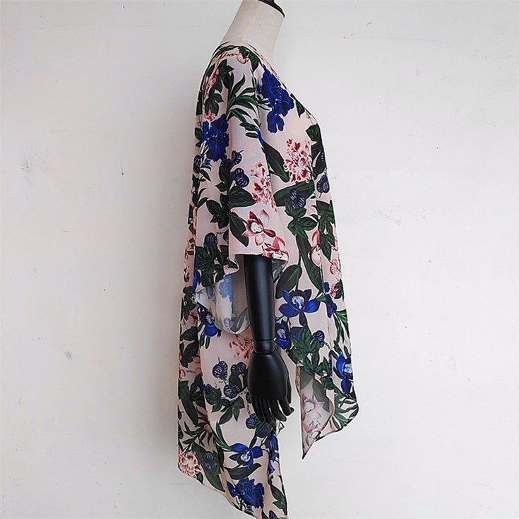 Scarf printer custom printed silk fabrics for kimono and shawls