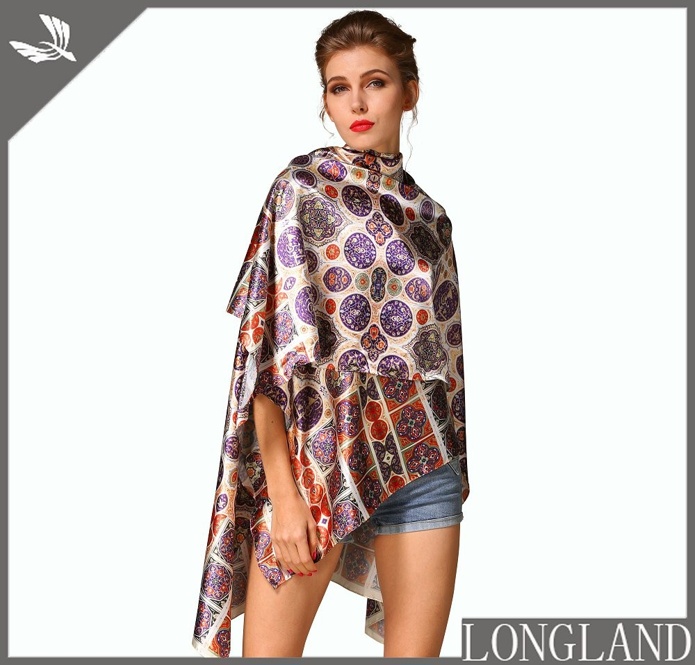 Silky satin scarf top for women, scarf factory