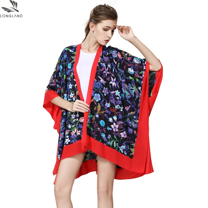 Custom kimono maker digital custom printed kimono cardigan