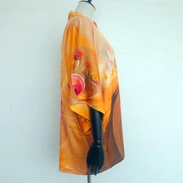 Custom kimono maker digital printed custom made kimono robe cardigan