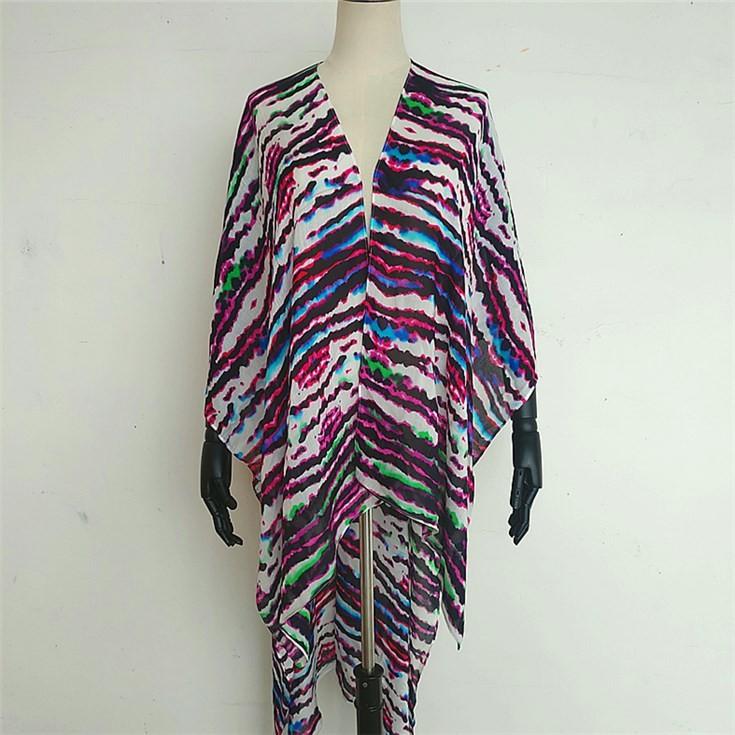 Custom kimono maker digital printed leopard print kimono wrap