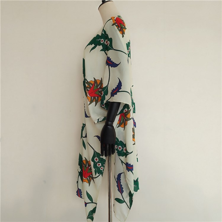 Custom kimono maker digital printed soft viscose kimonos