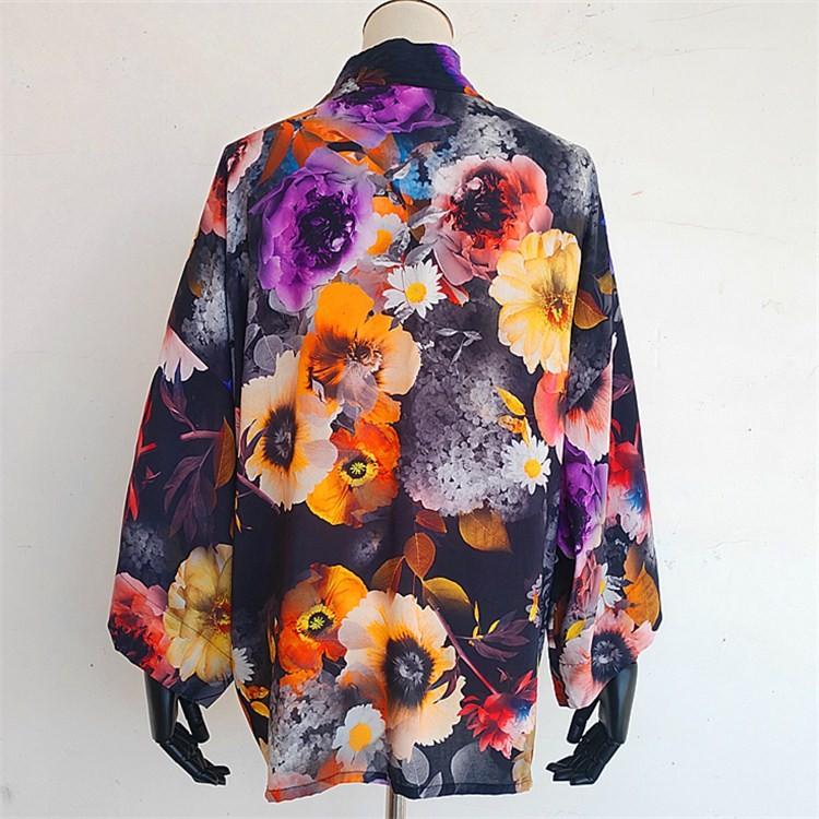Custom kimono maker wholesale digital printed custom kimono cardigan