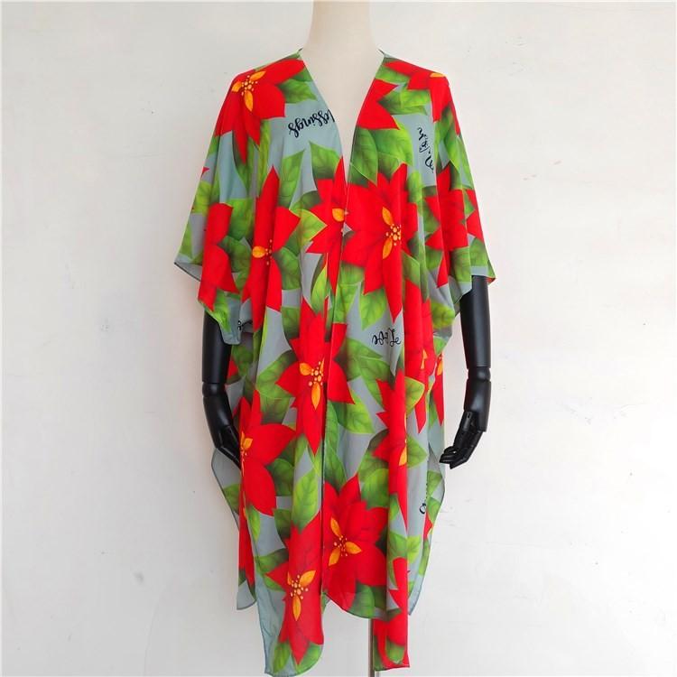 Custom printed kimono wholesale kimono cardigan robes