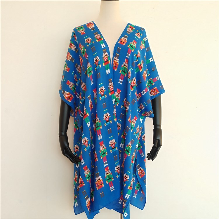 Kimono maker custom digital printed kimono jacket robe cardigan