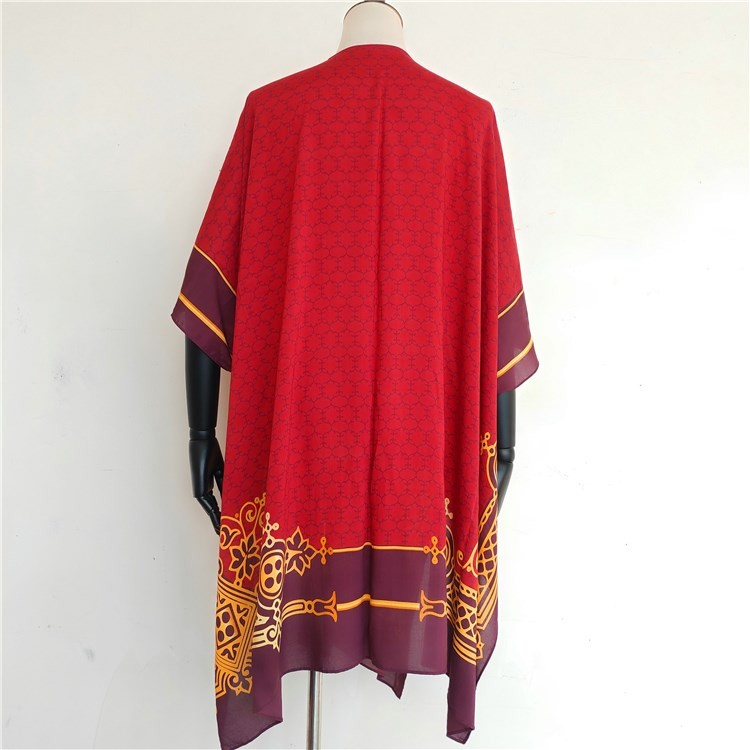 Kimono maker custom printed kimono jacket robe